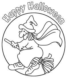 Halloween Coloring Page, Lela
