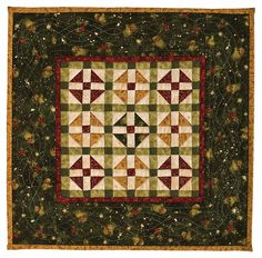 Christmas Miniature Quilt~ GORGEOUS FABRICS...I LOVE THIS WALL HANGING!!