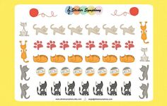 Cat Planner and Scrapbook Stickers