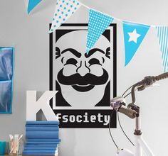 If you are a Mr. Robot Fan, decorate your home with this cool fsociety wall decal! That will automatically lead to long conversations with your friends about your favourite TV-show!