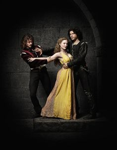 Still of Holliday Grainger, David Oakes and François Arnaud in The Borgias