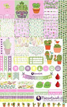 FREE printable cactus planner stickers!
