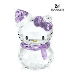 Swarovski Crystal Figurine Christmas HELLO KITTY SNOWMAN #1142949
