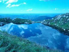 Lake on top of Ulriken, Norway