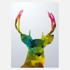 Deer Crystal Print