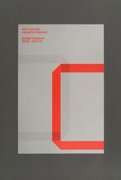 Wim Crouwel: A Graphic Odyssey (2011) exhibition poster bySpin