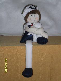 """Atelier Ivania Karla: """"Boneco marinheiro"""", você pode por ele na posição ..."""