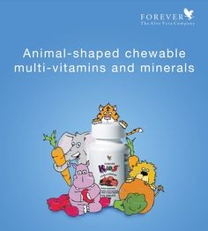 Give your kids the nutrients they need each day with Forever Kids® Chewable Multivitamins. They get vitamins and minerals with great taste and fun!