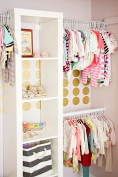 easy closet organization for little ones.