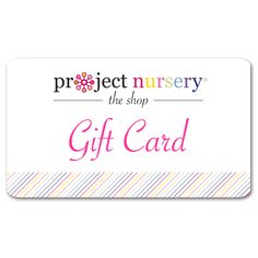 Gift Card to The Project Nursery Shop - the perfect gift for mom-to-be! #babygift #giftidea