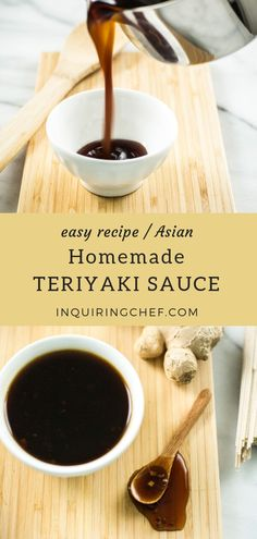 Homemade is so much better than store-bought when it comes to Teriyaki Sauce. This recipe is a staple in our fridge - comes together fast an. Chicken Teriyaki Sauce, Teriyaki Noodles, Homemade Teriyaki Sauce, Homemade Sauce, Teriyaki Stir Fry Sauce, Sauce Recipes, Cooking Recipes, Noodle Sauce Recipe, Beef Recipes