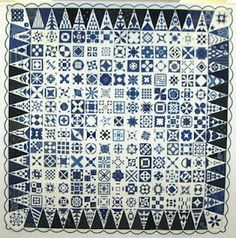 A blue and white version of Dear Jane from Hungary, made with traditional Hungarian blue fabrics. Posted at Steffi's Candy Quilts. Patchwork Dortmund 2010 show Two Color Quilts, Blue Quilts, White Quilts, Denim Quilts, Dear Jane Quilt, Farmers Wife Quilt, International Quilt Festival, The Quilt Show, Sampler Quilts