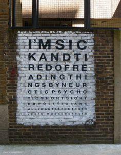 """Artist :K Guy...street art """"in London"""""""