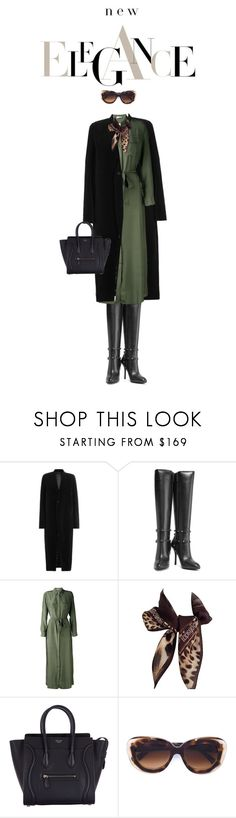 """The Rich"" by drigomes ❤ liked on Polyvore featuring Rick Owens, Valentino, P.A.R.O.S.H., Roberto Cavalli, CÉLINE and Oliver Goldsmith"