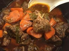It almost felt all wintery tonight with a nice beef stew in the slow cooker but then I remembered I still live in the desert Beef Steak, Pot Roast, Beef Recipes, Stew, Slow Cooker, Deserts, Ethnic Recipes, Felt, Live