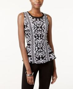 INC International Concepts Embroidered Peplum Top, Only at Macy's   macys.com