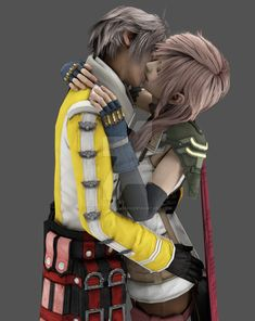 Yes, this is my first Blender render. I hope you like it as much as I do! Sure, it's not perfect yet, but still more realistic than rendering with XNA. Lightning x Hope: Kiss Lightning Final Fantasy, Final Fantasy Xii, Fantasy Series, Manga Posen, Tidus And Yuna, Hope Light, Anime Elf, Miraxus, Cloud And Tifa