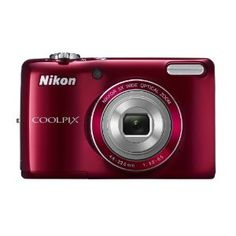 Nikon COOLPIX L26 16.1 MP Digital Camera with 5x Zoom NIKKOR Glass Lens and 3-inch LCD (Red) --- http://www.amazon.com/Nikon-COOLPIX-Digital-Camera-NIKKOR/dp/B0073HSK0K/?tag=betsysshoppin-20