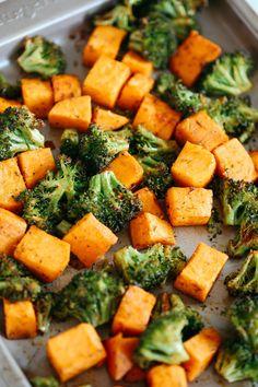 Perfectly Roasted Broccoli & Sweet Potatoes