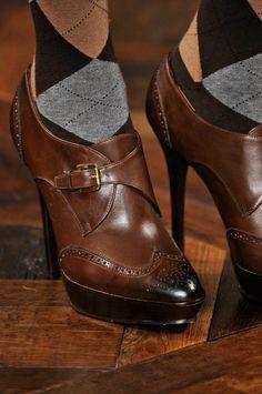 e2e8b23afd30de Ralph Lauren Fall 2012 Stunning brogue heels and argyle socks Fashion Dee  Anderson Fashion