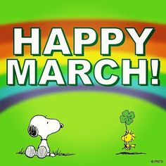goodmorning happy March  snoopy & woodstock peanuts