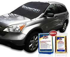 SnowOFF Car Windshield Snow Cover & Sun Shade Protector - New Contoured Shape w 8 Magnets, Wings & Suction Cups Secure Automotive Hood Covers + Chamois Glass Cleaner + Rescue Blanket - SUV, RV, Truck SnowOFF http://www.amazon.com/dp/B00RKR7S6A/ref=cm_sw_r_pi_dp_pPczwb11BWC9R