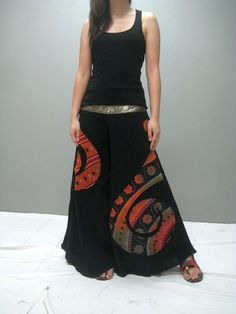 Morning garden wide leg pant MG 207.1 by thaitee on Etsy, $43.00