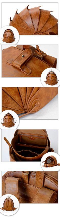 Leather Backpack for Men or For Women-Large Brown por KiliDesign