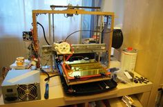 DIY 3D Printing: DIY 3d printer made from scrap electronic parts