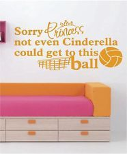 Sorry Princess   VOLLEYBALL Vinyl Wall Decals   Sports Stickers