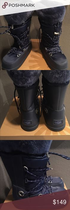 Amazing UGG (women) Amazing Ugg boots, snow boots super warm , brand new! Super chic and amazing navy color! UGG Shoes Winter & Rain Boots