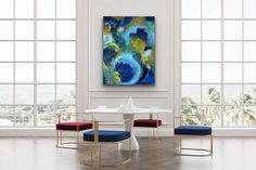 #abstractart #interiordesign #interiors #blue Alcohol Ink Painting, Alcohol Ink Art, Studios, Alchemy Art, Abstract Oil, Abstract Expressionism, Watercolor Print, Resin Art, Decoration
