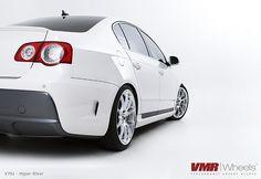 VMR Wheels Hyper Silver on Volkswagen Passat White Passat 3c, Porsche, Audi, Jetta Mk5, Volkswagen Golf Mk1, Hot Vw, Car Photography, Bugatti, Hot Wheels