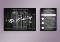 DIY Retro Movie Title Wedding Invitation Suite by NoblestHart, $40.00