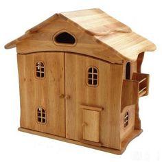 Drewart 4055 großes Puppenhaus natur mit Türen, 60 x 55 cm Puppenstube - www.avermaxshop.de