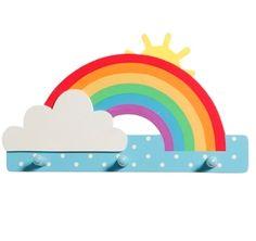 Rainbow Triple Hook Wooden Bedroom Nursery Boys Girls Sass & Belle New | eBay