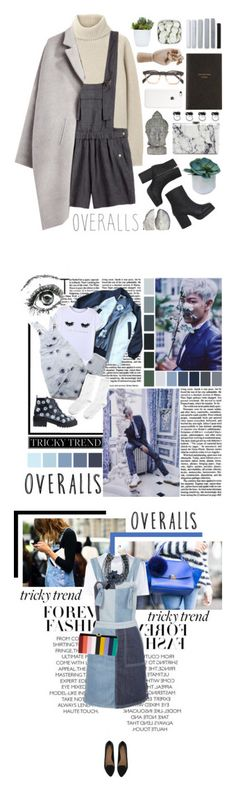 """Winners for Tricky Trend: Overalls"" by polyvore ❤ liked on Polyvore featuring Proenza Schouler, Étoile Isabel Marant, Zero + Maria Cornejo, Monki, Threshold, Universal Lighting and Decor, NOVICA, Balenciaga, Smythson and HAY"