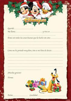 imágenes de papa noel para imprimir | carta a papá noel de disney pronto más pronto de lo que nos ...