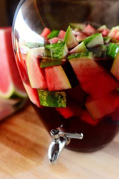 Watermelon Sangria @Irina Dasani Drummond | The Pioneer Woman - use #LaVielleFerme or Marques de #Caceres Rosé