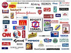 Boycott : liste des marques et produits soutenant la colonisation d'Israël | L'Indigné du Canapé
