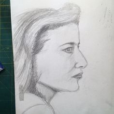 Day 7/30 Gillian Anderson Sketches Of People, Female Profile, Profile View, Gillian Anderson, Art Challenge, Portrait, Men Portrait, Human Sketch, Portrait Illustration