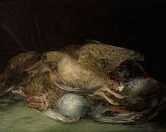 'Still Life with Woodcocks'. Oil on canvas. Francisco Goya, Still Life Artists, Create Words, Old Master, Art Studies, Western Art, Art Museum, Oil On Canvas, Painting