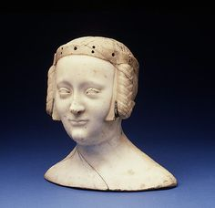 Marie de Champagne - - daughter of Eleanor of Aquitaine. Also said to be Marie de France daughter of Charles IV of France and Jeanne d'Evreux, marble with lead inlays, c. Have not researched this yet. Historical Hairstyles, Medieval Hairstyles, Eleanor Of Aquitaine, French Royalty, Plantagenet, Historical Art, Grave Memorials, Military Art, 14th Century