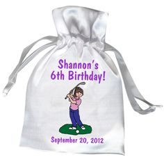 37412783 Mini Golf Birthday Party Favor Bags for Girls Boy Party Favors, Party Favor  Bags,. Mandys Moon Personalized Gifts