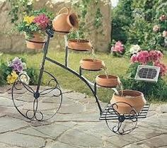 Resultado de imagem para fontes de agua com vasos de barro Garden Art, Bike, Image, House, Ideas, Vases, Water Sources, Barbell, Binder