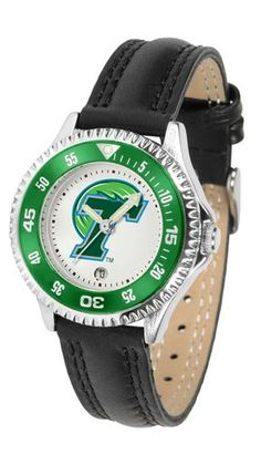 NCAA Tulane University Green Wave Competitor Ladies' Watch