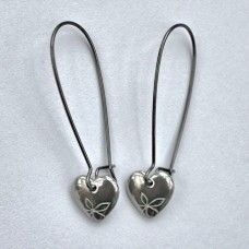 Beautiful handmade heart earrings, inspired by the Cornish surf culture.