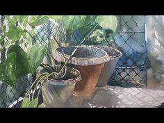 Art of watercolor painting Watercolor Video, Watercolor Tutorials, Watercolor Techniques, Painting Tutorials, Watercolour Painting, Watercolor Flowers, Water Colors, Medium Art, Balcony