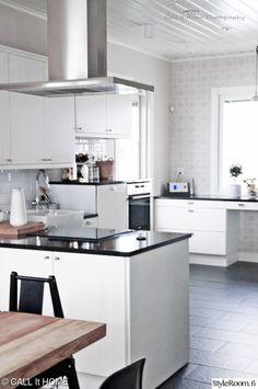 keittiö,mustavalkoinen sisustus