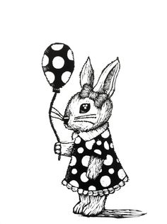 Bunny with the ballon by Peepholee on DeviantArt